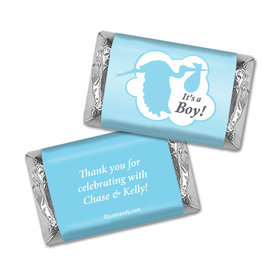 Baby Shower Personalized Hershey's Miniatures Wrappers Stork