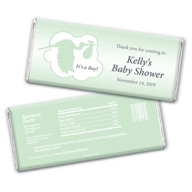 Baby Shower Personalized Chocolate Bar Wrappers Stork