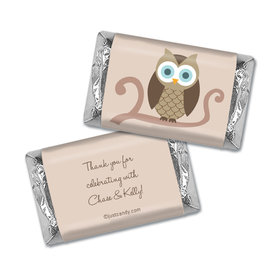 Baby Shower Personalized Hershey's Miniatures Wrappers Whoo Owl