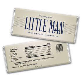 Baby Shower Personalized Chocolate Bar Wrappers Little Man