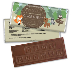 Baby Shower Personalized Embossed Chocolate Bar Fox, Deer, Forest Animals