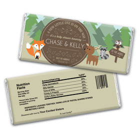Baby Shower Personalized Chocolate Bar Wrappers Fox, Deer, Forest Animals