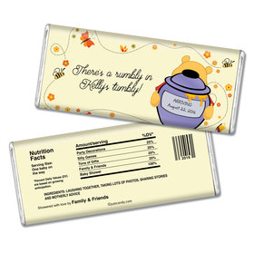Baby Shower Personalized Chocolate Bar Honey Pooh