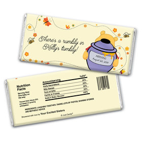 Baby Shower Personalized Chocolate Bar Wrappers Honey Pooh
