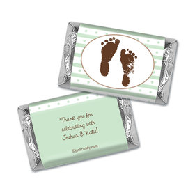 Baby Shower Personalized Hershey's Miniatures Wrappers Footprints