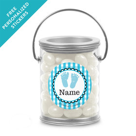 Sweet Baby Feet Blue Personalized Paint Cans (25 Pack)