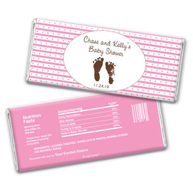 Baby Shower Personalized Chocolate Bar Wrappers Footprints