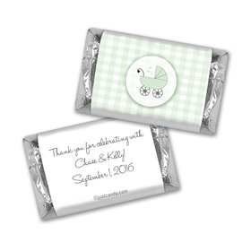 Baby Shower Personalized Hershey's Miniatures Gingham Carriage