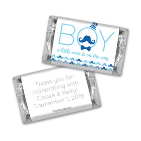 Baby Shower Personalized Hershey's Miniatures Wrappers Mustache Bash