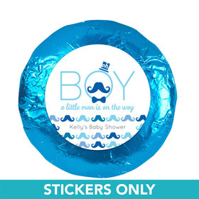 "Baby Shower 1.25"" Sticker Mustache Bash (48 Stickers)"
