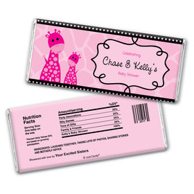 Baby Shower Personalized Chocolate Bar Wrappers Giraffe