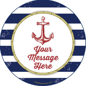 "Nautical Personalized 2"" Stickers (20 Stickers)"