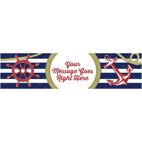 Personalized Nautical 5 Ft. Banner