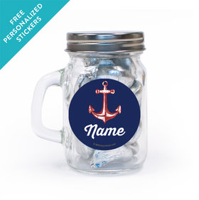 Nautical Personalized Mini Mason Jar 12 Pack