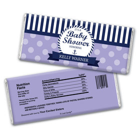 Baby Shower Personalized Chocolate Bar Wrappers Nautical Anchor