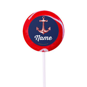 """Nautical Personalized 2"""" Lollipops (24 Pack)"""