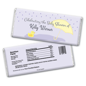 Baby Shower Personalized Chocolate Bar Wrappers Duck Rain Shower