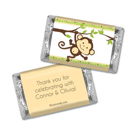 Baby Shower Personalized Hershey's Miniatures Wrappers Swinging Monkey