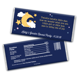 Gender Reveal Baby Shower Personalized Chocolate Bar Wrappers Twinkle Twinkle Star