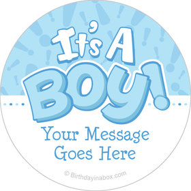 "Twinkle Boy Personalized 2"" Stickers (20 Stickers)"