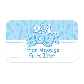 Twinkle Boy Personalized Rectangular Stickers (18 Stickers)