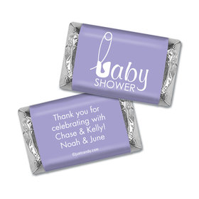 Baby Shower Personalized Hershey's Miniatures Wrappers Baby Pin