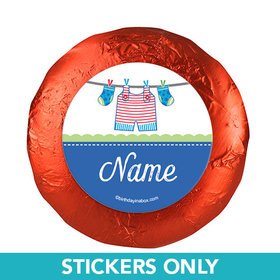 """Shower with Love Boy Personalized 1.25"""" Stickers (48 Stickers)"""