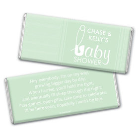 Baby Shower Personalized Chocolate Bar Baby Pin