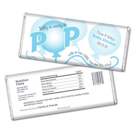 Baby Shower Personalized Chocolate Bar About to Pop Balloons