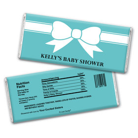Baby Shower Personalized Chocolate Bar Wrappers Tiffany Bow Theme