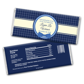 Baby Shower Personalized Chocolate Bar Wrappers Bow Tie Seal