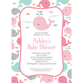 Little Spout Pink Personalized Invitation