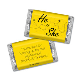 Gender Reveal Baby Shower Personalized Hershey's Miniatures Wrappers Bumble Bee