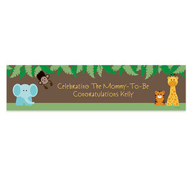 Personalized Jungle Safari Baby Shower Banner