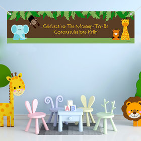 Personalized Jungle Safari Baby Shower 5 Ft. Banner