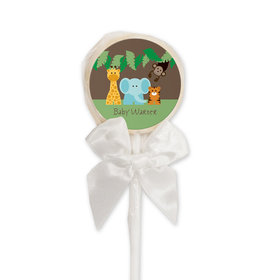 Baby Shower Personalized Lollipop Jungle Safari Animals (24 Pack)