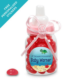 Baby Shower Personalized Pink Baby Bottle Ocean Bubbles (24 Pack)