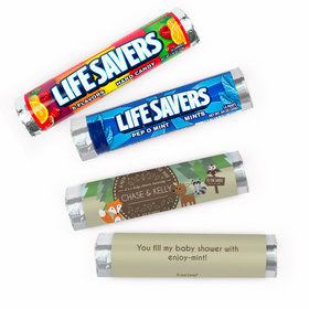 Personalized Baby Shower Forest Animals Lifesavers Rolls (20 Rolls)
