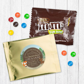 Personalized Baby Shower Forest Friends Milk Chocolate M&Ms