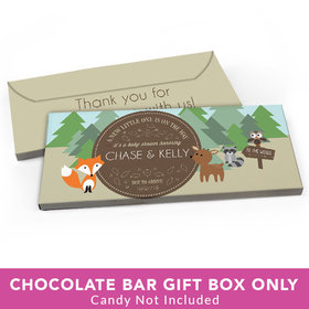 Deluxe Personalized Baby Shower Forest Friends Candy Bar Favor Box