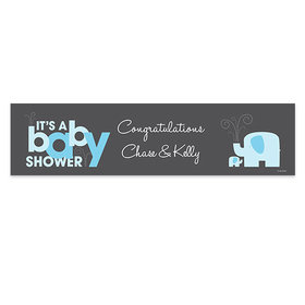 Personalized Elephants Baby Shower Banner