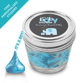 Baby Shower Personalized Event Blossom Jar Elephant (12 Pack)