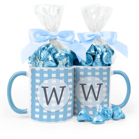 Personalized Baby Shower Checkered Pattern 11oz Mug with Hershey's Kisses
