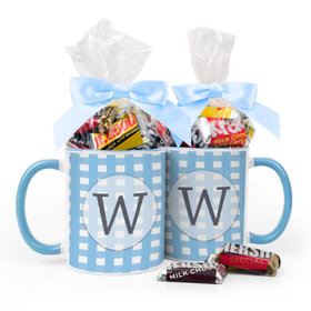 Personalized Baby Shower Checkered Pattern 11oz Mug with Hershey's Miniatures