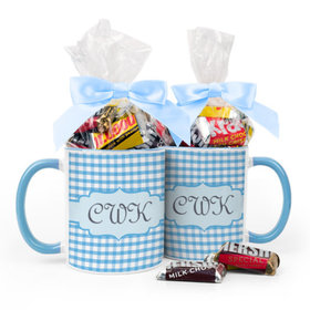 Personalized Baby Shower Initials 11oz Mug with Hershey's Miniatures