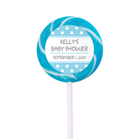 Baby Shower Personalized Small Swirly Pop Polka Dot(24 Pack)