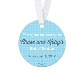 Personalized Round Baby Shower Little Lady Favor Gift Tags (20 Pack)
