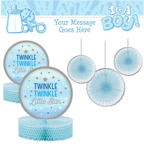 Baby Shower Decorating Kit - Twinkle Blue