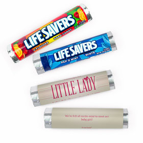 Personalized Baby Shower Little Lady Lifesavers Rolls (20 Rolls)