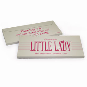 Deluxe Personalized Baby Shower Little Lady Chocolate Bar in Gift Box